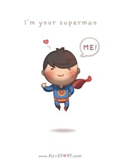 Check out the comic HJ-Story :: Superman Hj Story, Cute Love Stories, Love Story, What Is Love, My Love, Desenhos Love, My Superman, Batman, Cartoons Love