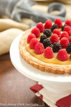 Sable Breton Galette with Berries