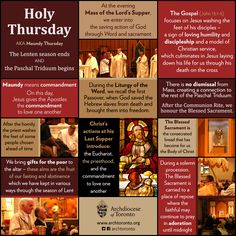 On Holy Thursday, we celebrate the Mass of the Lord's Supper #infographic…