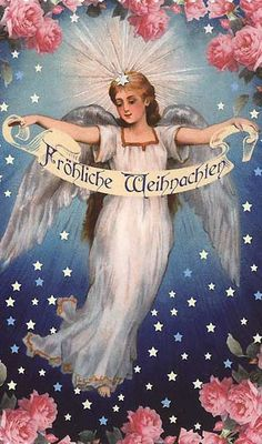 Heavenly angel Christmas card ~ Germany