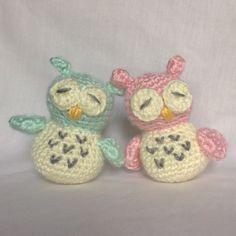 Crochet Baby Owl Plush Toy by HookYarnAndHooper on Etsy
