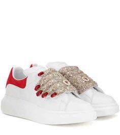 Embellished leather sneakers | Alexander McQueen