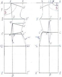 Ecco, invece, il cartamodello per realizzare un tubino classico aderente e corto.