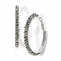 Simply Vera Vera Wang Bead Hoop Earrings