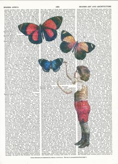 Dictionary Art Print Little Artist Giclee Print on Vintage Upcycle Book Page Print Art Print Dictionary Print Collage Print by SheriDictionaryPrint on Etsy