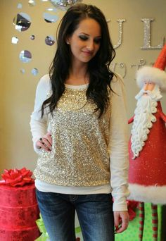Omg that sparkle sweater is perfect for the holiday!!
