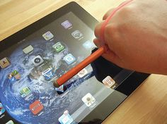 SALT - (Shallow Angle, Light Touch Capacitive Stylus)   Developed for people with hand or wrist injuries, may also be used by anyone who holds the pen at an angle of less than 45 degrees.