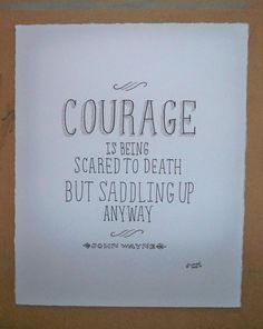 Courage - John Wayne by RooneyHandLettering on Etsy, $12.00