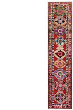 Oriental Rug Runners: Mid-Length Gallery: Vintage Kurdish Runner, Hand-knotted in Turkey; size: 2 feet 6 inch(es) x 10 feet 10 inch(es)