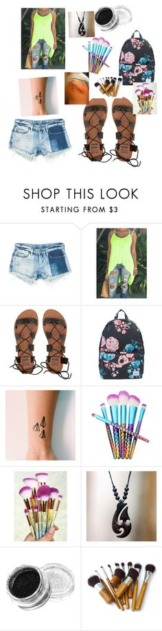 """""""Untitled #745"""" by girlwithnoluck ❤ liked on Polyvore featuring Sans Souci, Billabong, Herschel Supply Co. and NOVICA"""