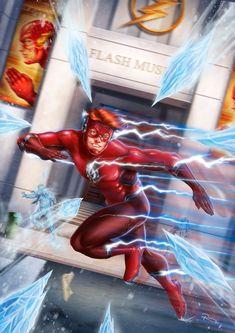 Flash Comics, Dc Comics Heroes, Dc Comics Art, Kids Lantern, Dc Speedsters, Expanding Universe, Flash Wallpaper, Speed Force, The Flash Season
