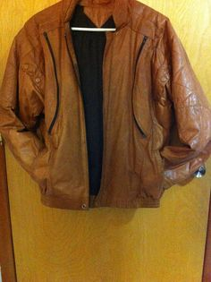Caramel Mens Genuine Leather Jacket/Vintage Leather Rustic