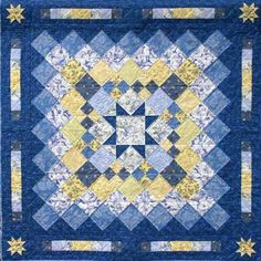 Love to make blue and yellow quilts. 1992. | Quilts - Big and ... : blue and yellow quilt - Adamdwight.com