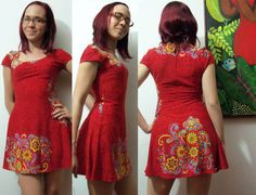 One Piece Pattern Dress - SO Cute!!!  Pattern is cut as ONE SINGLE PIECE & SEW SEAMS TOGETHER.  Sketch on website!!!  YES...I'm making this dress!!  (: