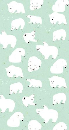 Momoro illustration : photo pattern & illustration animals ф Polar Bear Illustration, Illustration Noel, Pattern Illustration, Digital Illustration, Cute Wallpapers, Wallpaper Backgrounds, Commercial Wallpaper, Christmas Phone Wallpaper, Whatsapp Wallpaper