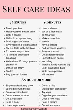 PIN THIS LIST! save this list as a reference for self care ideas. even when you are short on time! Self care has so many benefits- make sure you click the link to read how it can change your life and boost your personal growth. #lawofattraction #produc...