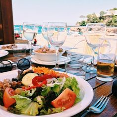 "⠀   ⠀⠀⠀⠀⠀⠀-SILVIA BACQUELAINE- on Instagram: ""Lunch time & Sea... ❤ liked on Polyvore featuring home, kitchen & dining and instagram"