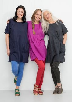 Tunic in cotton/viscose – New arrivals – GUDRUN SJÖDÉN – Webshop, mail order and boutiques   Colourful clothes and home textiles in natural materials.