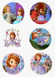 "Folie du Jour Bottle Cap Images: Sofia the First 1"" free digital bottle cap images"
