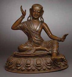 A Bronze Figure of Milarepa - antique chinese Buddhism, Bronze, Statue, Antiques, Vintage, Antiquities, Antique, Vintage Comics, Old Stuff