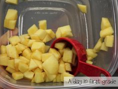 A day in first grade: How to make applesauce in your classroom {recipe included} How To Make Applesauce, Homemade Applesauce, Activities For 1st Graders, Toddler Activities, Preschool Cooking, Preschool Ideas, Apple Unit, Teacher Hacks, First Grade