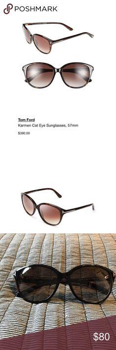 Tom Ford Kareem Sunglasses Tom Ford Karmen cat eye sunglasses in brown tortoise. Light wear, great condition! Tom Ford Accessories Sunglasses