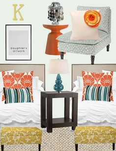 Take a peek at our adorable orange kids rooms. Take an additional 10% with coupon Pin60 at www.CreativeBabyBedding.com