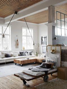 The lovely home of Swedish artistYlva Skarp| Photo byKristofer JohnssonforResidence Magazine | via Style and Create