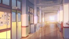 Anime School Hallway