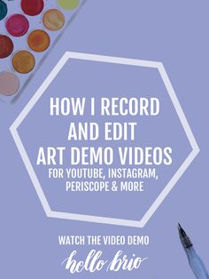 Here's how I record and edit art demonstration videos for Instagram, YouTube, Periscope and more. See my full setup at hellobrio.com