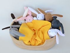 This is a simply FABULOUS bunny softie tutorial. I fell in love with them the minute that I saw them, and I am making them for my daughters for Easter. Free sewing pattern.