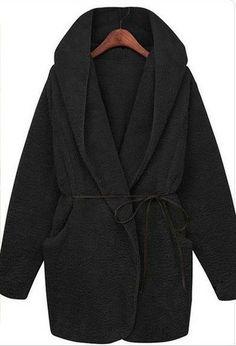 Womens Hoodie Fleece Coat Jacket Long Sleeve Hooded Soft Cardigan Poncho Coat | eBay