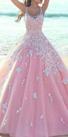 Vestido de 15 largo rosa