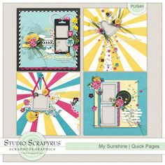 My Sunshine | Quick Pages by Scrapyrus Deisngs (get these awesome QP's free if you purchase the bundle!).  This is such a gorgeous collection! All of the proceeds from the sale of this kit or bundle will go to the Défi Cardio 25 heures, benefiting Opération Enfant Soleil's Fonds Josée Lavigueur!  Read all about it here: http://deficardio25heures.com/default.aspx