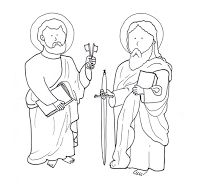 Sts. Peter & Paul coloring page