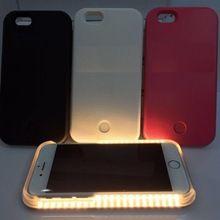 Selfie illuminate LED light up Cell Phone Cases for iphone 6 plus / 6s plus Selfie in dark Selfie in night phone case
