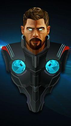 Thor, superhero, Avengers: infinity war, minimal, artwork, 720x1280 wallpaper