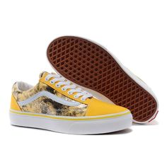 8938401533 Vans Old Skool Shoes MensWomens Classic Canvas Sneakers Yellow Romantic  Seattle