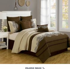12 Piece Queen Coloma Embroidered Bed in a Bag Set