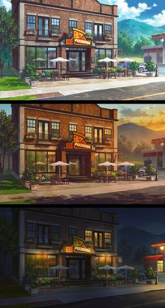 Commission by andanguyen on DeviantArt Colorful Wallpaper, Wallpaper S, Anime Places, Episode Backgrounds, Cute Anime Character, Environment Concept Art, Anime Scenery, Aesthetic Backgrounds, Backrounds