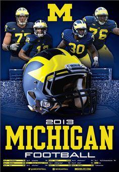 Michigan football poster