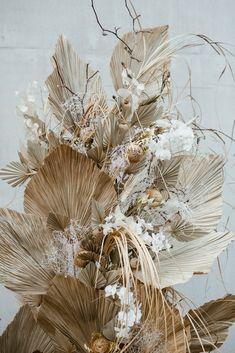 Modern french tropical wedding ideas with dried flowers wedding flowers Modern french tropical wedding ideas with dried flowers