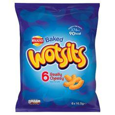 Walkers Wotsits Cheese Snacks 6 Pack 16.5G