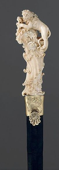 Lion Stick attributed to Joseph Deutschmann (German, 1717–1787)