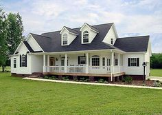 Farmhouse-Style Ranch - 3814JA | Country, Farmhouse, Ranch, Photo Gallery, 1st Floor Master Suite, Bonus Room, CAD Available, MBR Sitting Area, PDF, Wrap Around Porch, Corner Lot | Architectural Designs