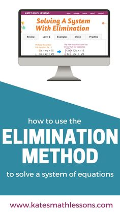 solve a system of equations using substitution algebra lessons  need help using the elimination method to solve a system of linear equations check out