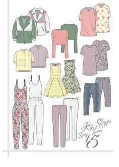 SPRING SUMMER KEY SHAPES - ArtsThread #technicalflat #womenswear #fashiondesign…
