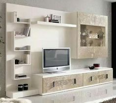 Living Room Wall Units, Living Room Tv Unit Designs, Home Living Room, Living Room Partition Design, Room Partition Designs, Tv Unit Decor, Tv Wall Decor, Tv Cabinet Design, Tv Wall Design