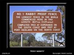Rabbit Proof Fence - Western Australia - used to try and keep the rabbits from other states - photo by Ray Aussie Australia, Moving To Australia, Australia Living, South Australia, Western Australia, Australia Travel, Australian Icons, Australia Landscape, Mail Boxes