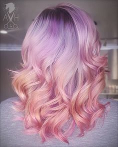 Purple Pink Ombre Hair Medium Length Inspiration